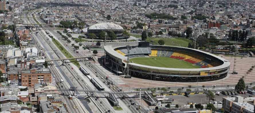 Aerial view of Estadio El Campin Nemesio Camacho