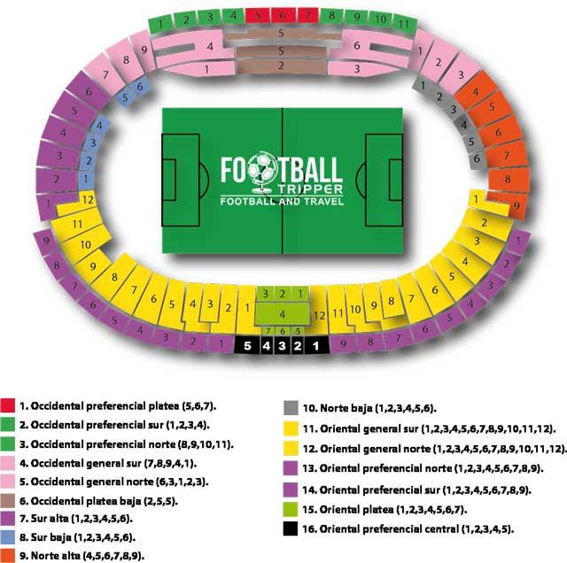 Estadio El Campin Seating Chart