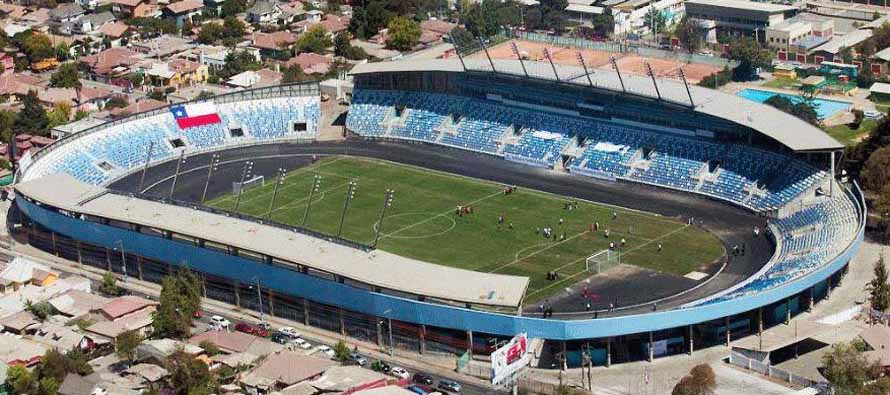 Aerial view of Estadio El Teniente