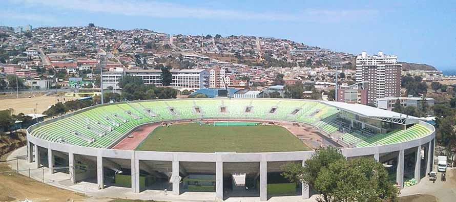 Aerial view of Estadio Elias Figueroa Brander