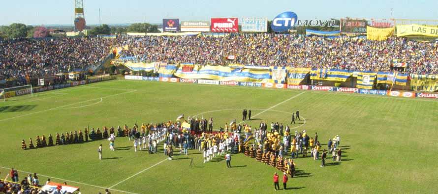 Inside Estadio Feliciano Caceres on matchday