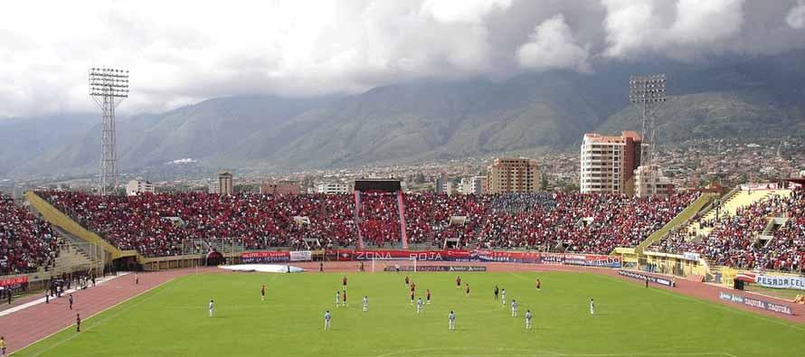 Inside Estadio Felix Capriles