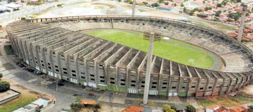 Aerial view of Estadio Albertão
