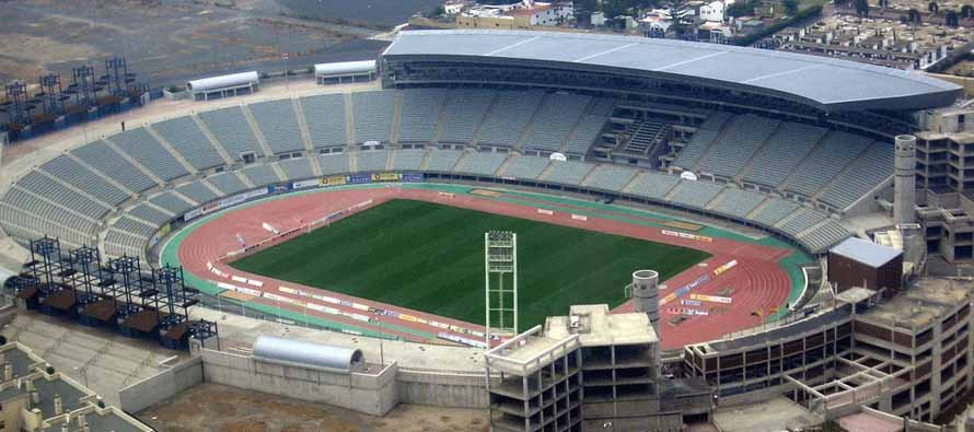 estadio gran canaeria aerial view