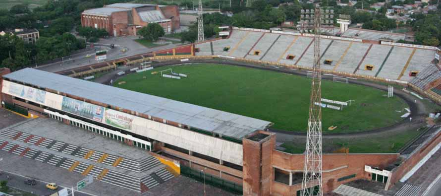 Aerial view of Estadio Guillermo Plazas Alcid