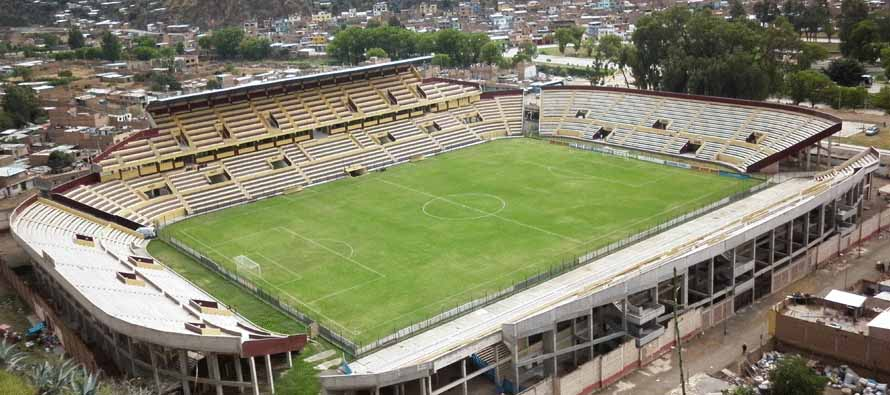 Aerial view of Estadio Heraclio Tapia