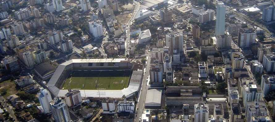 Aerial view of Estadio Heriberto Hulse