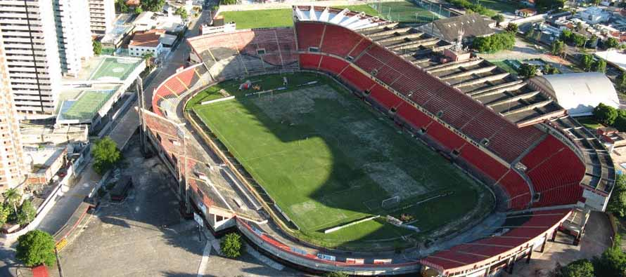Aerial view of Estadio Ilha Do Retiro