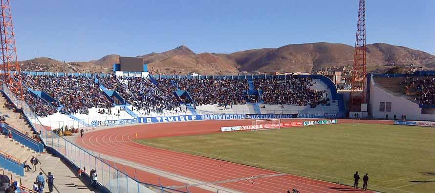 Inside Estadio Jesus Bermudez