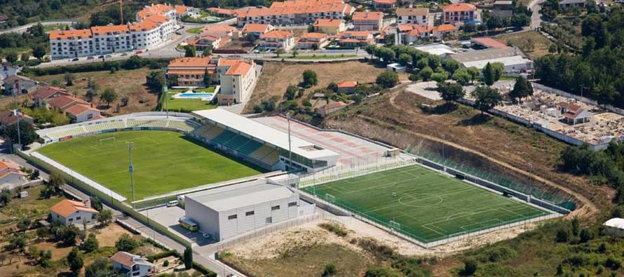 Aerial view of Estadio Joao Cardoso