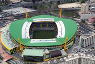 Aerial view of Estadio Jose Alvalade