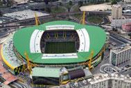 Aerial view of Estadio Jose Alvalade