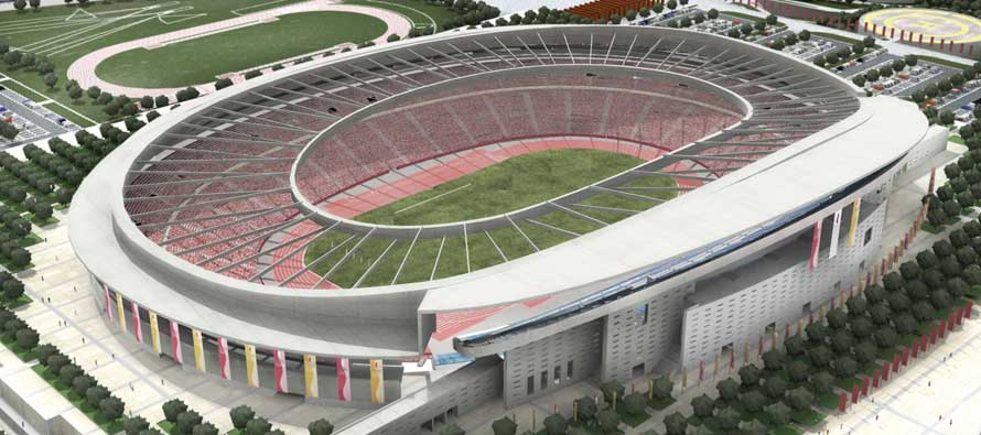 Athletico Madrid's new stadium rendered