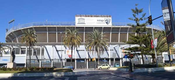 Outside Estadio La Rosaleda