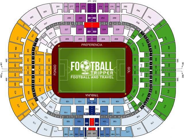 Estadio La Rosaleda Seating Plan