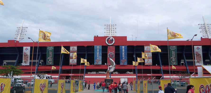main entrance estadio luis pirata fuente