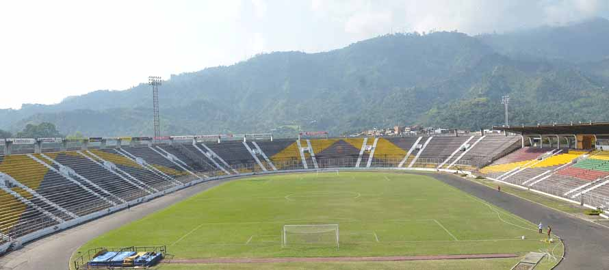 View of Estadio Manu pitch