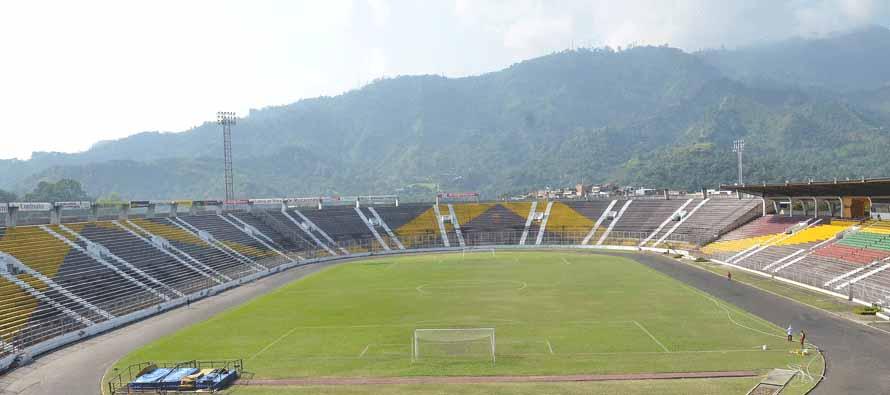 View of Estadio Manu pitch