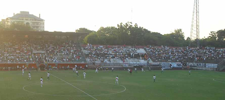 Inside Estadio Manuel Ferreira on matchday