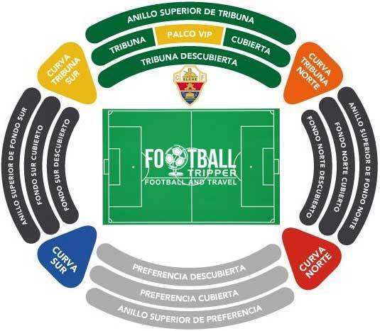 Estadio Manuel Martinez Valero Seating Plan