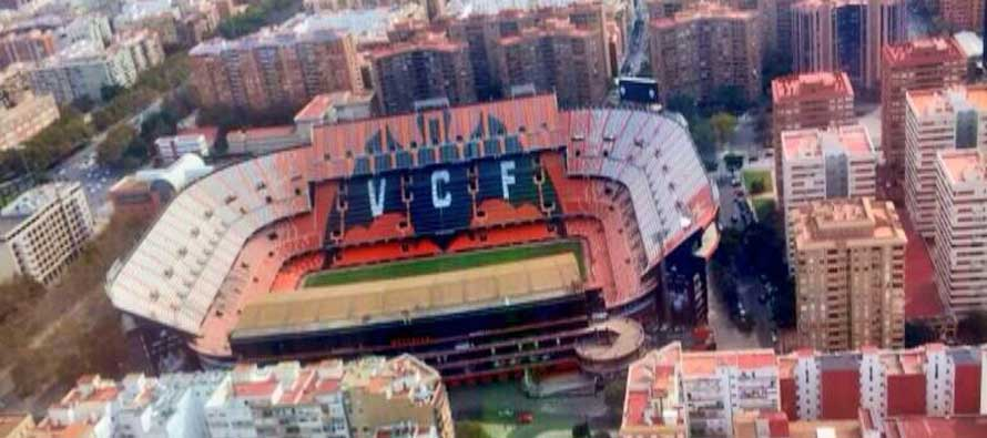 Estadio Mestalla from the sky