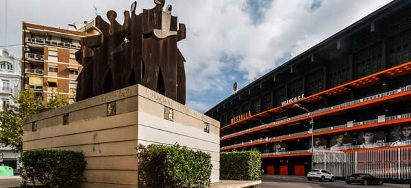 Exterior of Estadio Mestalla