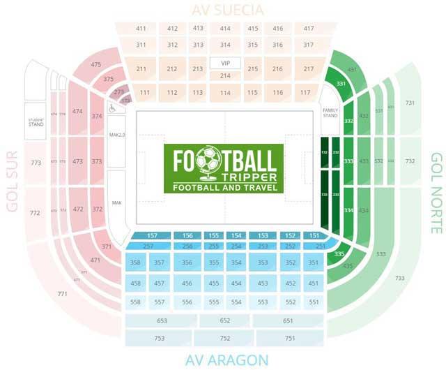 Estadio de Mestalla Seating Plan