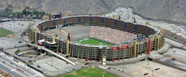 Aerial view of Estadio Monunmental Peru