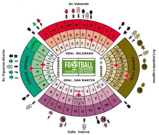 Seating chart for El Monumental