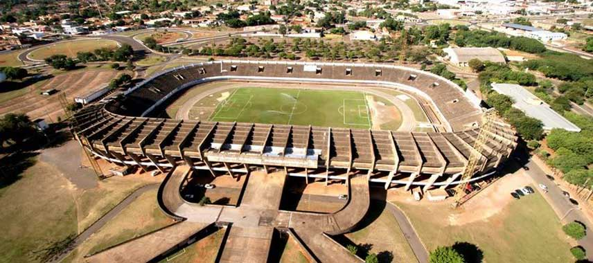 Aerial view of Estadio Pedrossian aka Morenao