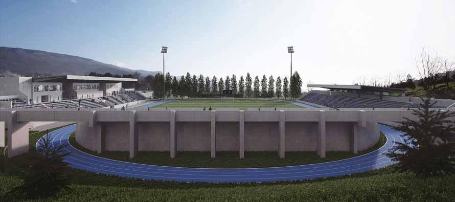 Exterior view of Estadio Municipal De Arouca