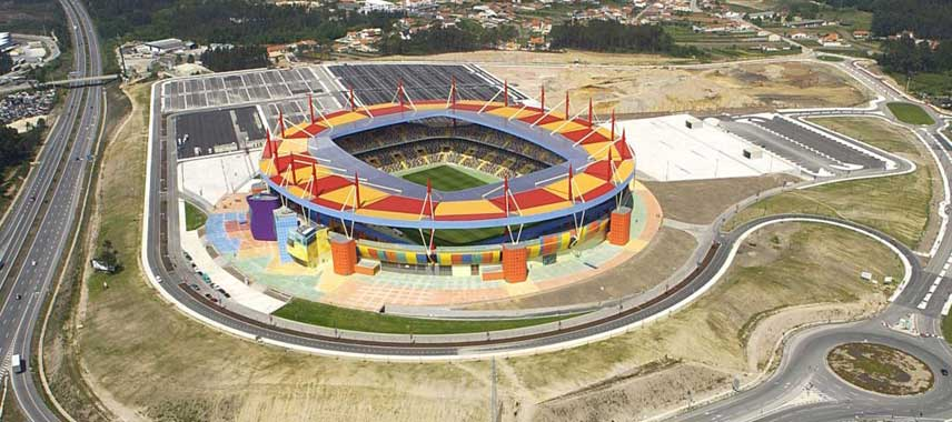 Aerial view of Estadio Aveiro