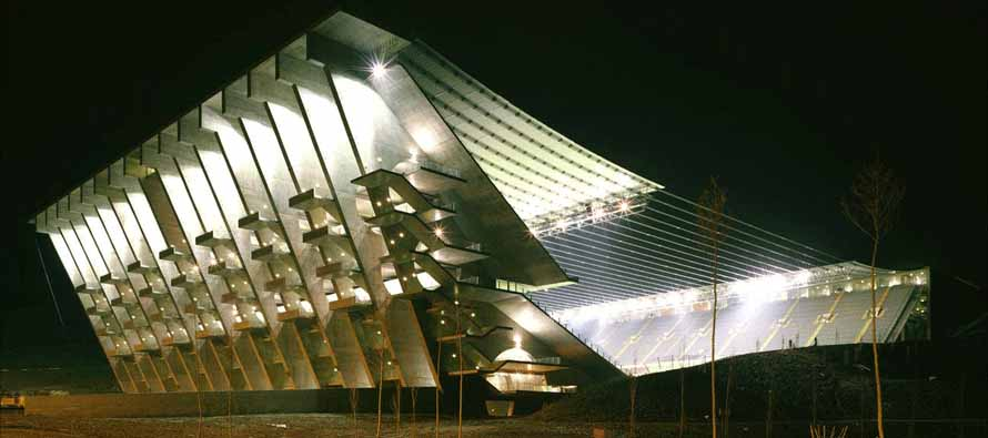 Estadio Municipal De Braga at night