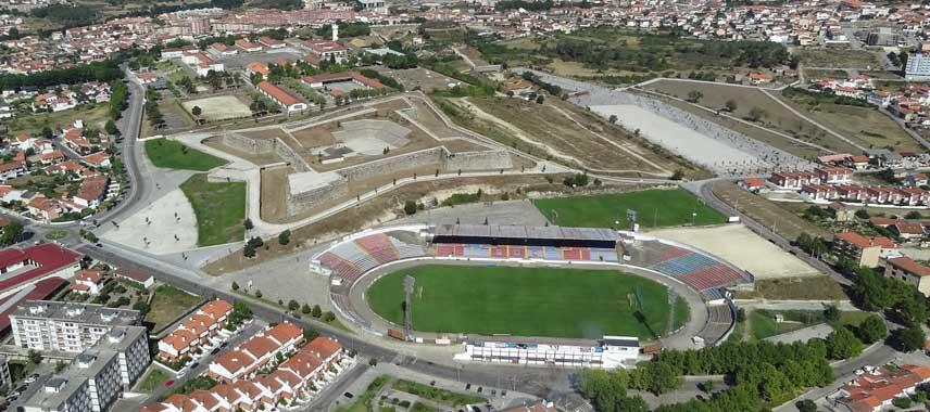Aerial view of Estadio Municipal de Chaves