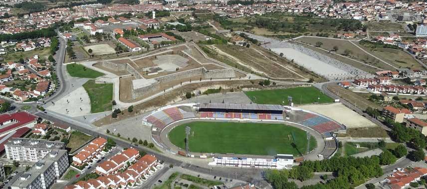 Aerial view of Estadio Municipal de Chaves
