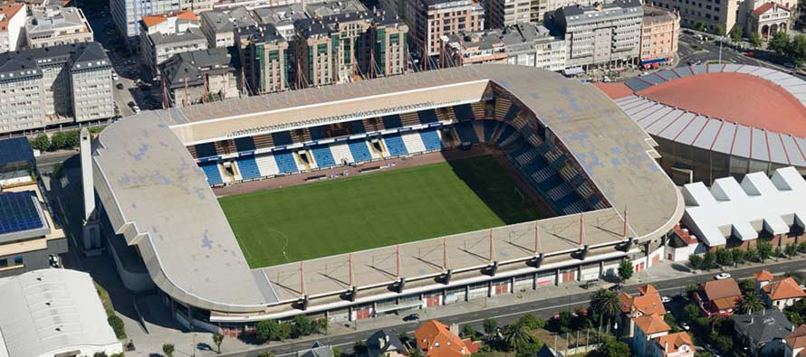 Estadio de riazor from above
