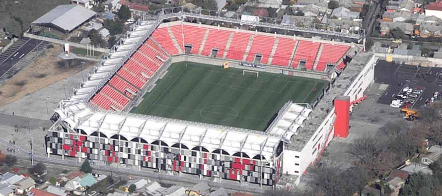 Aerial view of Estadio Municipal Nelson Oyarzun Arenas