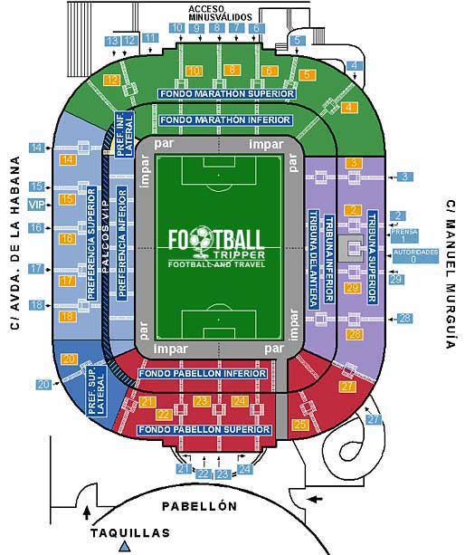 Estadio Municipal Riazor Seating Plan