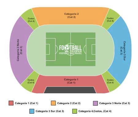 Seating chart for Estadio Nacional
