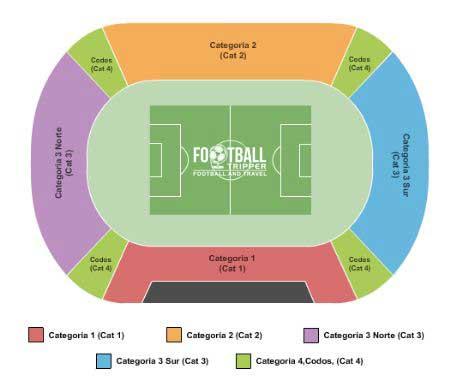 Seating chart for Estadio Nacional