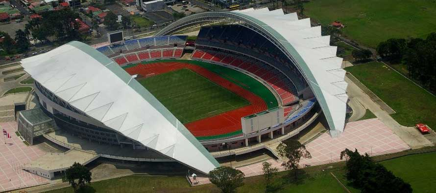 Aerial view of Costa Rica's national stadium