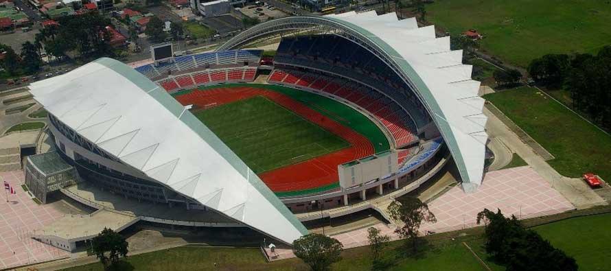 Aerial view of Costa Rica's national stadium