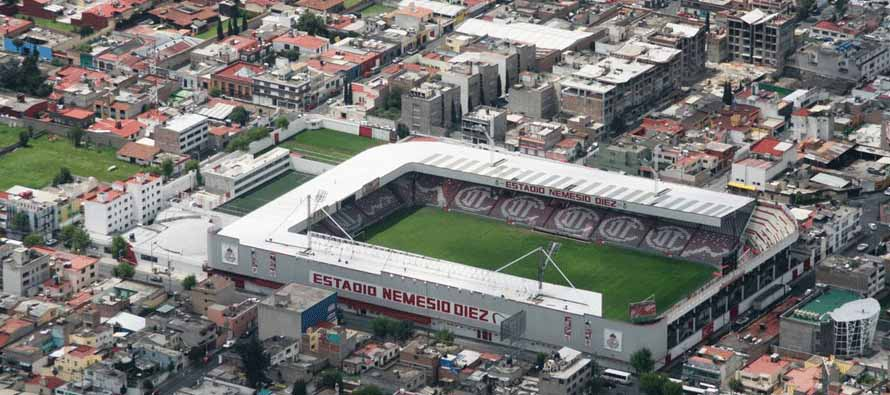 estadio nemesio diez main stand