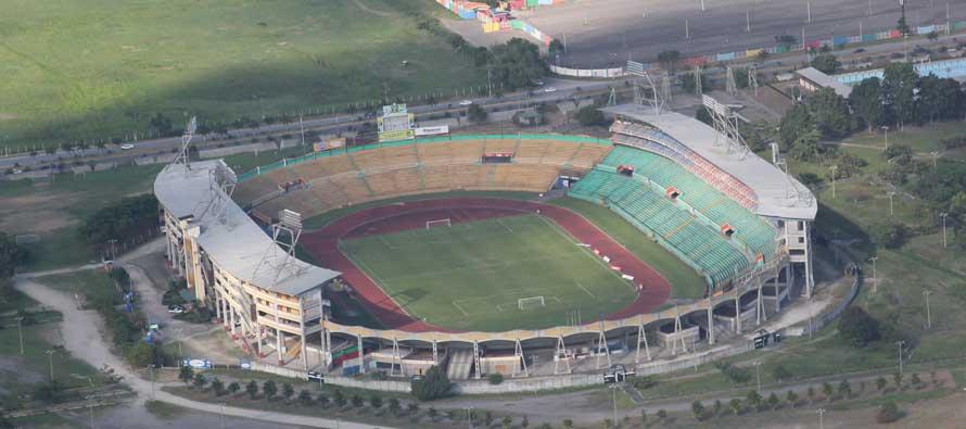 Aerial view of Estadio Metropolitano