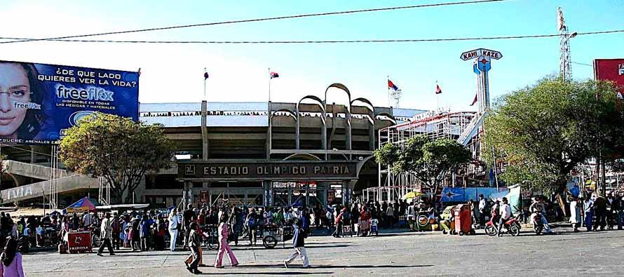 Exterior of Estadio Olimpico Patriai
