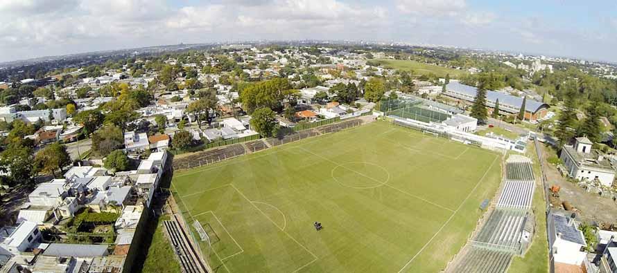 Aerial view of Estadio Osvaldo Robert