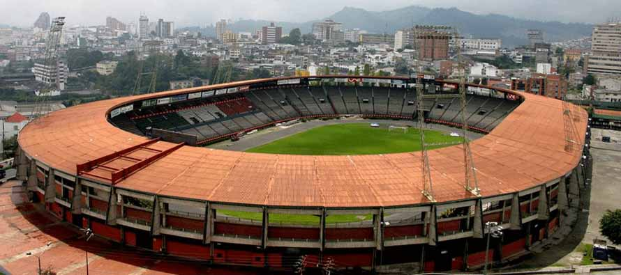 Aerial view of Estadio Palogrande