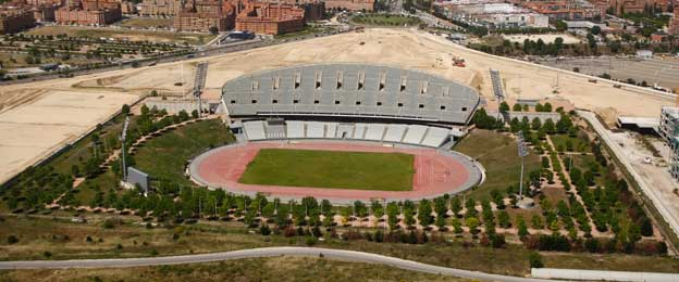 Aerial view of Estadio Peineta