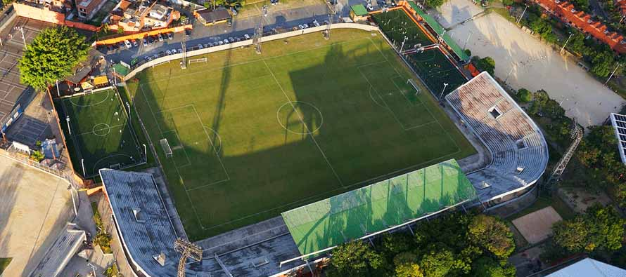 Aerial view of Estadio Polideportivo Sur