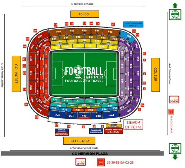 Sevilla Stadium Seating Plan
